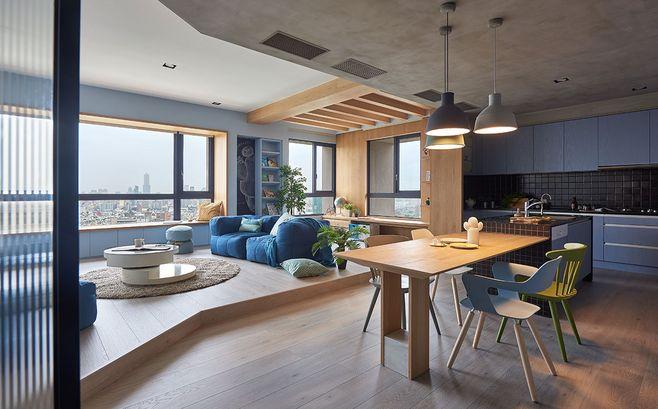 客厅和阳台打通一体,居然这么美!